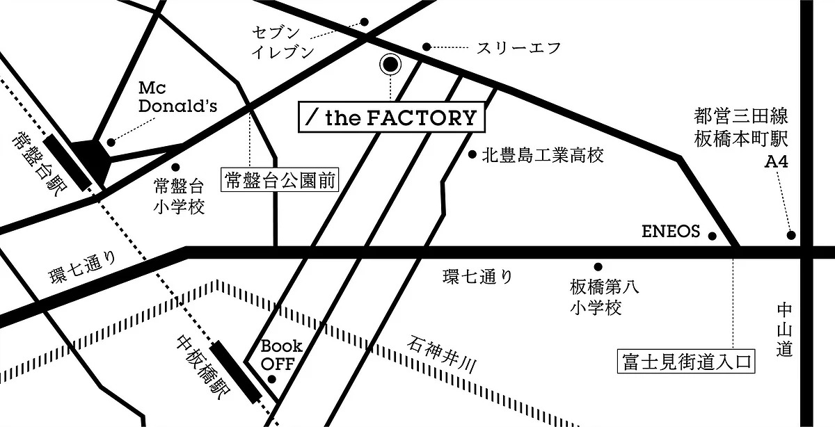 the FACTORY 地図